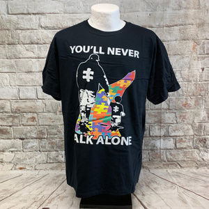 Fruit of the Loom Mens Tee Size L Autism Support